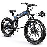 Electric Bike, TotGuard 26' Fat Tire Electric Bike for Adults 500W...