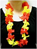Sportfanshop24 Blumenkette/Hawaiikette / Halskette - rot-gelb (Spanien) - Umfang zirka 100cm (1m) -