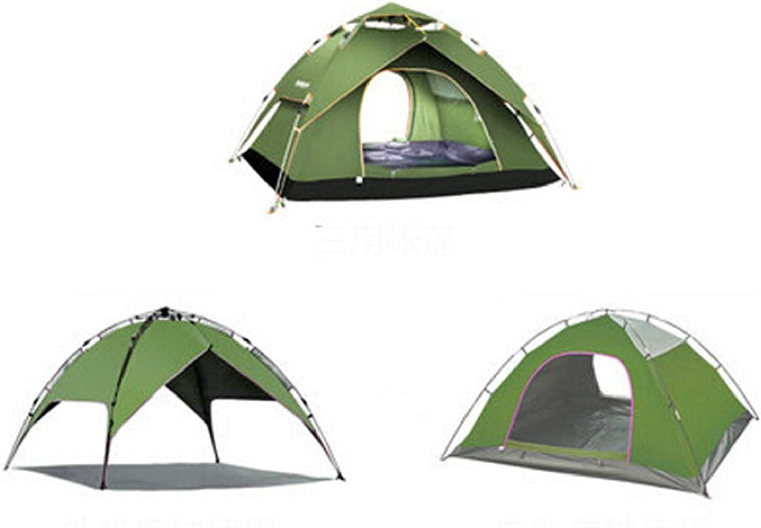 paritariny NEW Gazebo Automatic Tent Camping Waterproof Rare Double