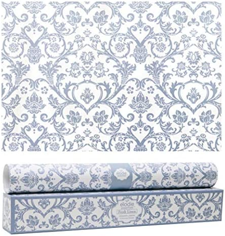 Elodie Essentials Scented Drawer and Shelf Liners - Royal Damask Print - Six (6) Large 14 x 19½ Inch Sheets - Non-Adhesive Paper Sheets for Closet Shelves and Dresser Drawers (English Lavender)