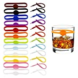 24Pcs Wine Glass Markers for Drinks, Cocktail Drink Markers, Glass Tags, Suitable for Bottle Identification for Parties or Families