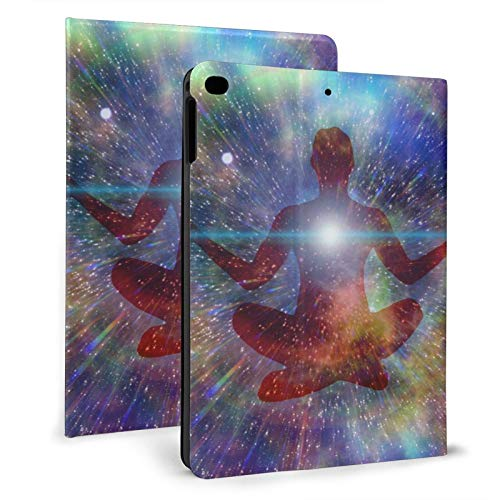 Galaxy Starry Yoga Smart Case for Ipad 9.7 2018/2017 Lightweight Smart Cover with Auto Sleep/Wake,Hard Back Cover for Ipad 5th/6th Gen