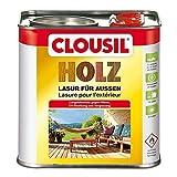 CLOUsil Holzlasur Holzschutzlasur für außen silbergrau Nr. 22, 2.5L: Wetterschutz, UV-Schutz, Nässeschutz und Schimmel für alle Holzarten - in verschiedenen Farben