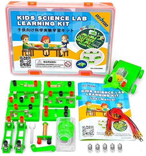 Kit de aprendizaje de ciencias OSOYOO, conjunto de experimentos de electricidad y magnetismo, circuitos de construcción, para estudiantes en los grados 3-9 (kit de laboratorio avanzado