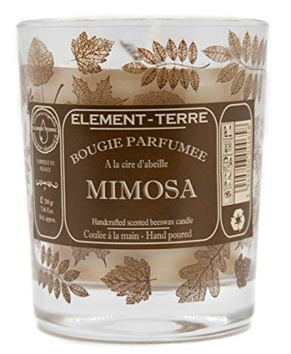 ELEMENT-TERRE Candela profumata 200Grammi, 50Ore Profumo Mimosa