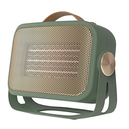 HYJBGGH Portátil Calentador De Ventilador Silencioso, Calentamiento Rápido, Circulación De Aire para Escritorio De Oficina, Dormitorio, Hogar, Uso En Interiores (Color : Green, Size : 220V)