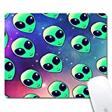 Gold Elk Marble Gaming Office Mouse Pad ZTtrade Durable Customized Non-Slip Rubber Mouse Pad-Rectangle. (Galaxy Alien)