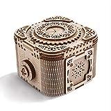 Cuteefun Maquetas de Caja Misteriosa para Construir Adultos, Maquetas Mecanico de Madera para Montar, Caja Fuerte Puzzle 3D Madera Construcciones, Regalo para Niños Niñas Hombres y Mujeres