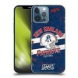 Head Case Designs Licenza Ufficiale NFL Casco Aspetto Sdrucito 100esimo New England Patriots Logo Art Cover Dura per Parte Posteriore Compatibile con Apple iPhone 13 PRO Max