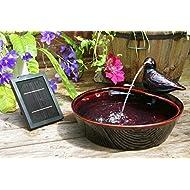 Ceramic Dove Solar Water Feature