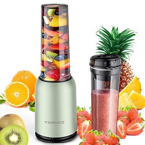 TEMINICE Professional Personal Countertop Blender for Milkshake, Fruit...