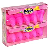 Peeps Pink Marshmallow Chicks, 2 Trays of 5 each, 3 oz