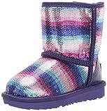UGG Kids' Classic II Sequin Rainbow Boot, Violet Rainbow, 8 M US Toddler