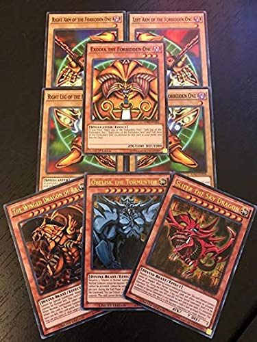 Yugioh EXODIA and GOD Cards 200 Card Lot with Rares.