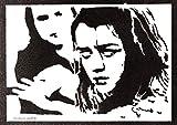 Póster Arya Stark Juego de Tronos Grafiti Hecho a Mano - Handmade Street Art - Artwork Game of Thrones
