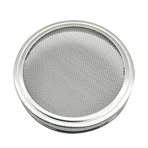BESTONZON couvercles de brotación en Acier Inoxydable DE 3,3 Pouces pour flacons de maçon de Bouche Large pour Faire des graines de germinado Organique dans la Maison et la Cuisine