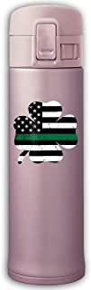 XQFwylms St Patricks Vintage Shamrock USA Flag Unisex Vacuum Cup Stainless Steel Thermos Tumblers Thermos with Bounce Cover