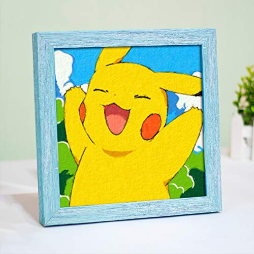 WZNING DIY digitaal olieverfschilderij, Modern Muurschildering canvas schilderij, Home Decoration, leuke Pokémon Cartoon/Pikachu de hand geschilderde olieverf, geschikt for kinderen en volwassenen,