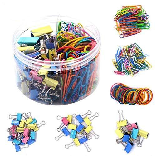 240 piezas,Binder Clips,FoldBack Binder Clips,Bulldog Clips,Pinzas De Papel De Papelería,Clips de Papel, Pinzas de Papel. (color)
