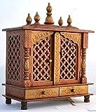 Mereappne Wooden Pooja Mandir |Indian| |Hindu| |Decorations| |Puja| |God Satyanarayana| |Temple| |Cabinet| |Bhagwan| |Stand| |Mandapam| |Wall| |Hanging| Decor for Home