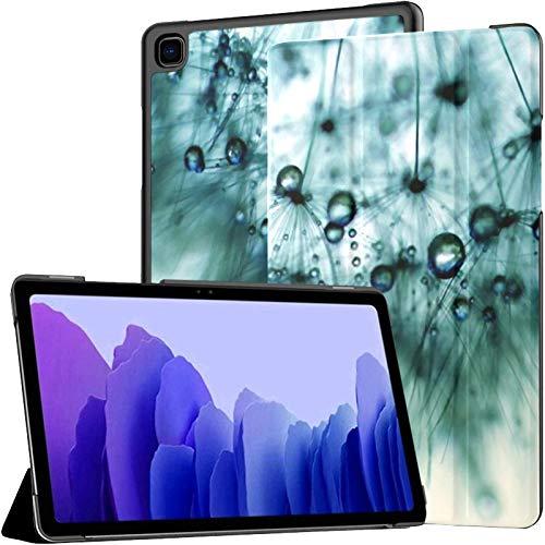 Funda para Tableta Samsung A7 Funda Azul con Gotas de Diente de león para Samsung Galaxy Tab A7 10,4 Pulgadas Funda Protectora de liberación 2020 Funda Protectora para Samsung Galaxy A7 Funda de cuer