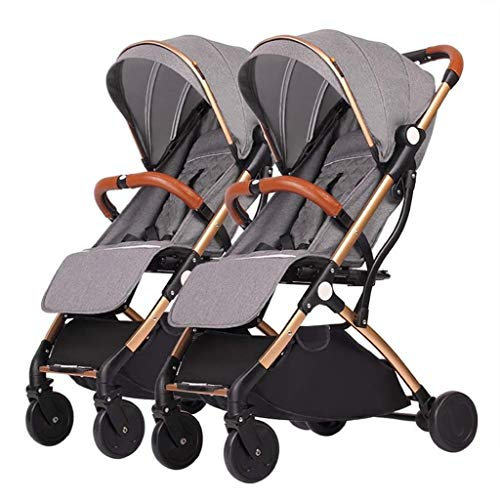 Purchase XZHSA Lightweight Double Stroller Baby Twins Stroller - Newborn 3 Years Old (Color : B)