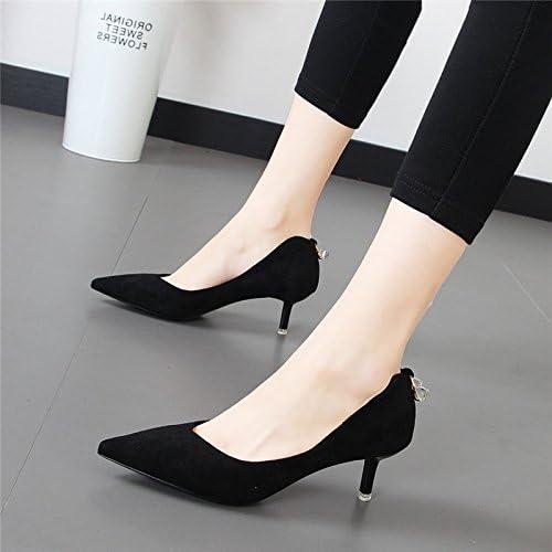 Xue Qiqi Talons hauts noirs avec la pointe d'un seul service et polyvalent light-girl chaussures