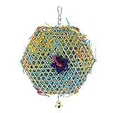 MagiDeal Jaula de Pájaros Dibujo Decorativo Cuerda de Hierba Juguete para Morder Loro Juguete de Dibujo de Loro