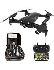 Le-idea Drone GPS con Telecamera 4K HD, Drone Pieghevole 5GHz WiFi FPV Quadcopter, Drone RC con Camera Professionale, Follow Me, Modalità Senza Testa, Regalo Perfetto per Bambini & Principianti