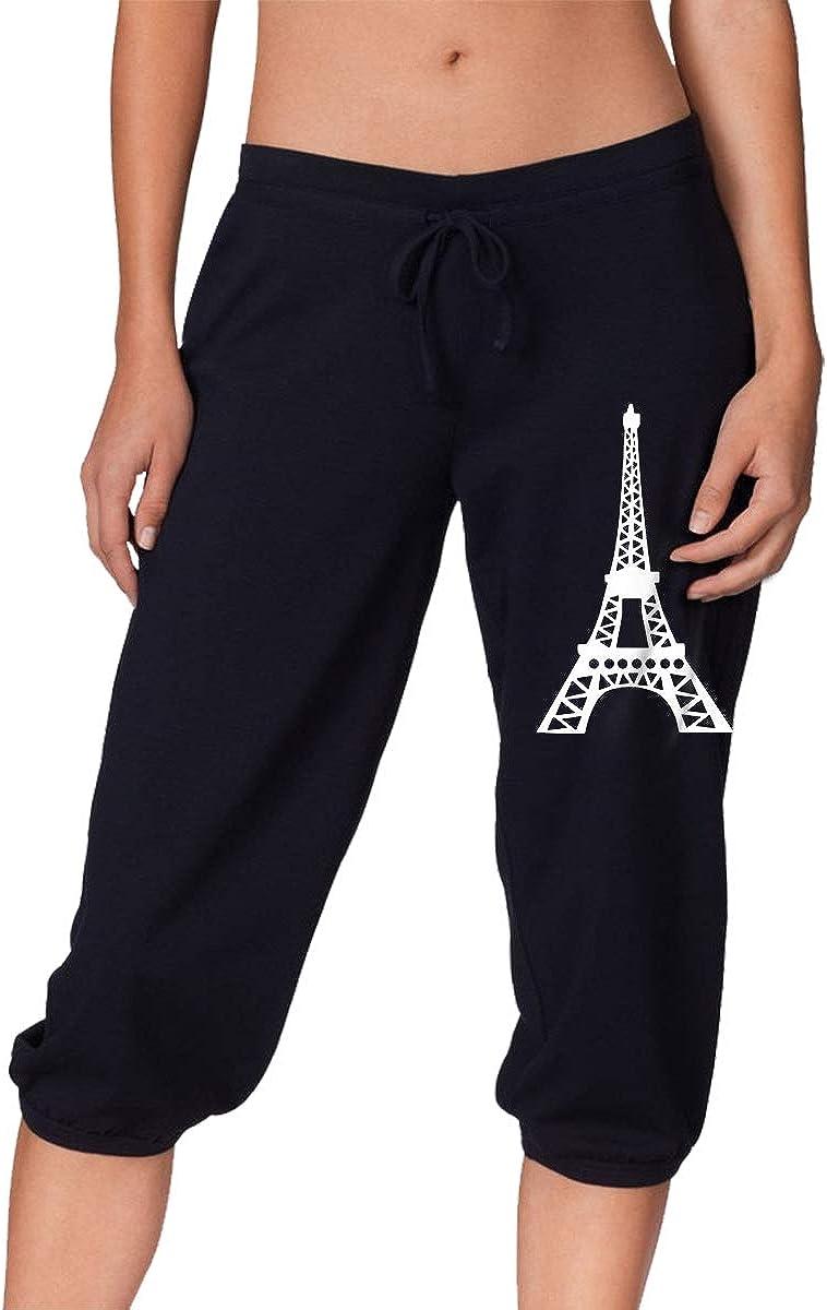 Paris France Eiffel Tower Women's Pants 4 Length セール特価 3 保障 Sport
