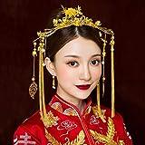 LIUXINDA-TS Braut Tiara chinesische Stil einfache Phoenix Hochzeit Schaffell Hochzeit...