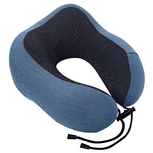 LKNJLL Almohada de cuello de viaje, cojín de cuello de espuma de memoria suave y cómodo, cómoda cubierta de soporte de cubierta transpirable, máquina suave lavable, kit de viaje de avión, para aviones