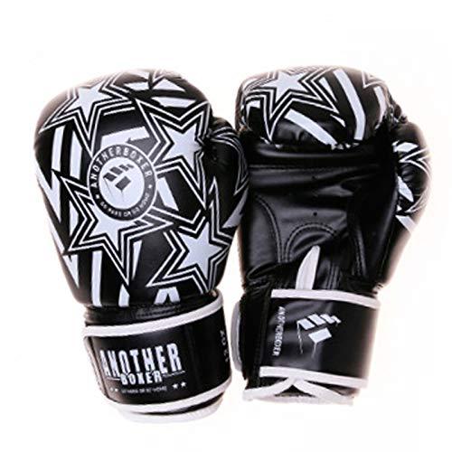 HOUJIA Guantes de Boxeo,MMA Gloves Guantes UFC Guantes de Boxeo para Hombres Mujeres Cuero Más Acolchado Saco de Boxeo sin Dedos Guantes para Kickboxing,Sparring,Muay Thai y Heavy Bag