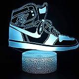 Luz nocturna para niños Luz nocturna 3D Zapatillas de moda 7 colores cambian la luz nocturna para niños con Smart Touch Decoración del hogar del dormitorio para niños niños niñas