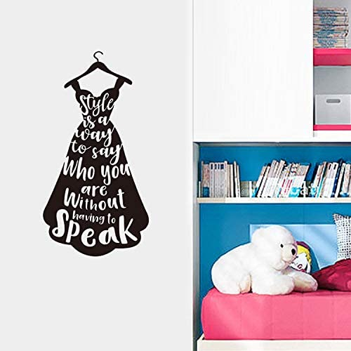 Gadgets Wrap Fashion Dress Letters Wall Stickers For Girl Rooms Bedroom Showcase Decoration Home Mural Art Decals Stickers