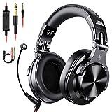 OneOdio Gaming Headset mit Mikrofon Kopfhörer mit Kabel Wired PC Headset mit Boom Mic HiFi Studio Over Ear DJ Kopfhörer Adapter-frei mit 6,3mm & 3,5mm Buchse für PS4 PC