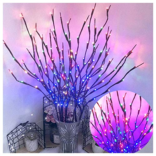 BULABULA Guirnalda de luces LED de simulación de árbol de árbol para habitación, diseño de luz nocturna.