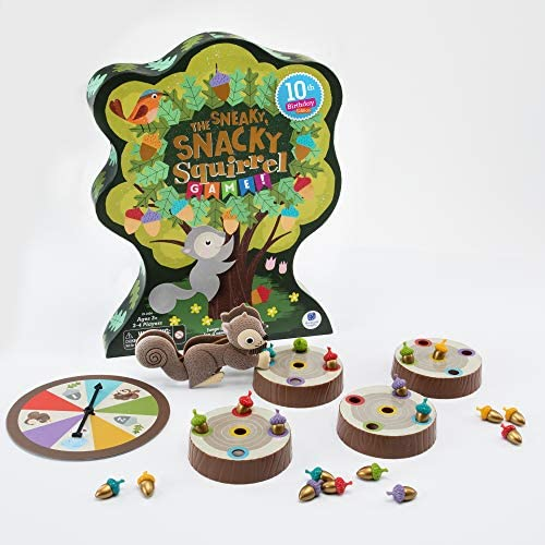 Educational Insights The Sneaky, Snacky Squirrel Game for Preschoolers & Toddlers, Color Recognition, Fine Motor Skills, Ages 3+