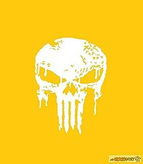 myrockshirt Punisher 20 cm Aufkleber für Auto,Scheibe, Lack,Wand,Wandtattoo aus Hochleistungsfolie für alle glatten Flächen Autoaufkleber Tuning Decal Sticker