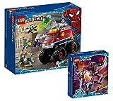 Collectix Lego Marvel 76174 - Juego de cartas de Spider-Mans Monster truck vs. Mysterio 76174 y Miles Morales Mech 76171