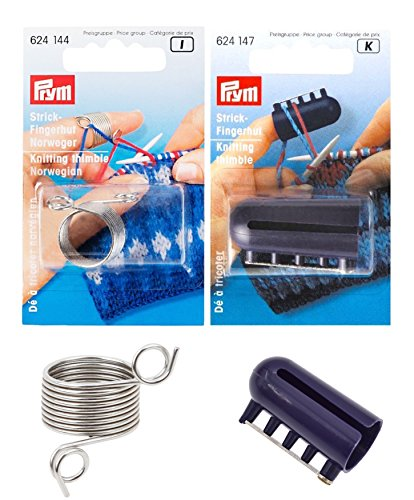 2 Pcs/Set 2 Yarn / 4 Yarn Guides PRYM Strick-Fingerhut Knitting Thimble Original Good Crafty DIY Ideas