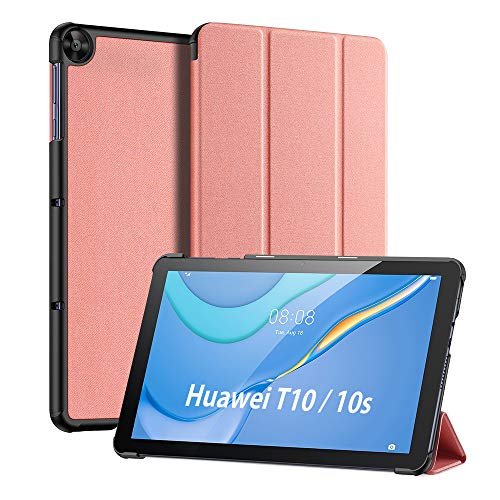 DUX DUCIS Custodia Cover per Huawei MatePad T10 / T10s 2020, Magnetica Pelle Coperchio Sottile Leggera Cover Custodia per T10s 10.1' AGS3-L09 AGS3-W09 / T10 9.7' AGR-L09 AGR-W09 (Rosa)