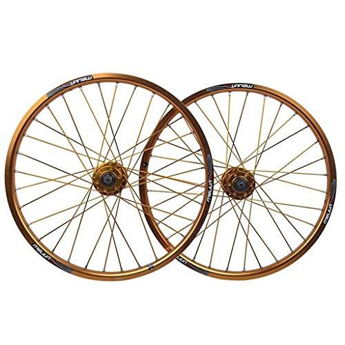 XCZZYC BMX Rueda Delantera y Trasera de Bicicleta de 20 Pulgadas 406 Juego de Ruedas Freno de Disco de llanta de aleación de Doble Pared QR para 8/9/10 Velocidad Cassette Volante Bicicleta Plegable
