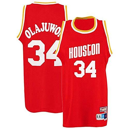 Rockets # 34 Olajuwon - Camiseta de baloncesto, uniforme de baloncesto, sin mangas, chaleco deportivo, gran material de baloncesto, talla S-xxl, 123, 123, color color, tamaño White-XL