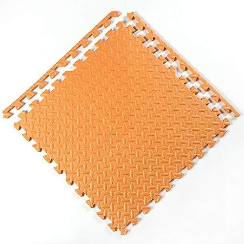 F-S-B 6 Tiles Puzzle Play Mat, tapetes de Espuma, EVA Interrocking Puzzle Ejercicio Mat para Entrenamientos de Equipos de Gimnasio, 60 * 60 * 2.5 cm,Naranja