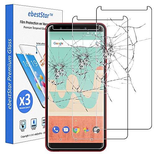 ebestStar - kompatibel mit Wiko View Go Panzerglas x3 Schutzfolie Glas, Schutzglas Bildschirmschutz, Bildschirmschutzfolie 9H gehärtes Glas [Phone: 152.5 x 72.6 x 8.3mm, 5.7'']