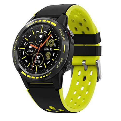 YYZ M7C Smart Watch Men's Smart Watch GPS Sports Bluetooth IP67 Compass Barómetro Altitud Touch Fitness Fitness Outdoor,B