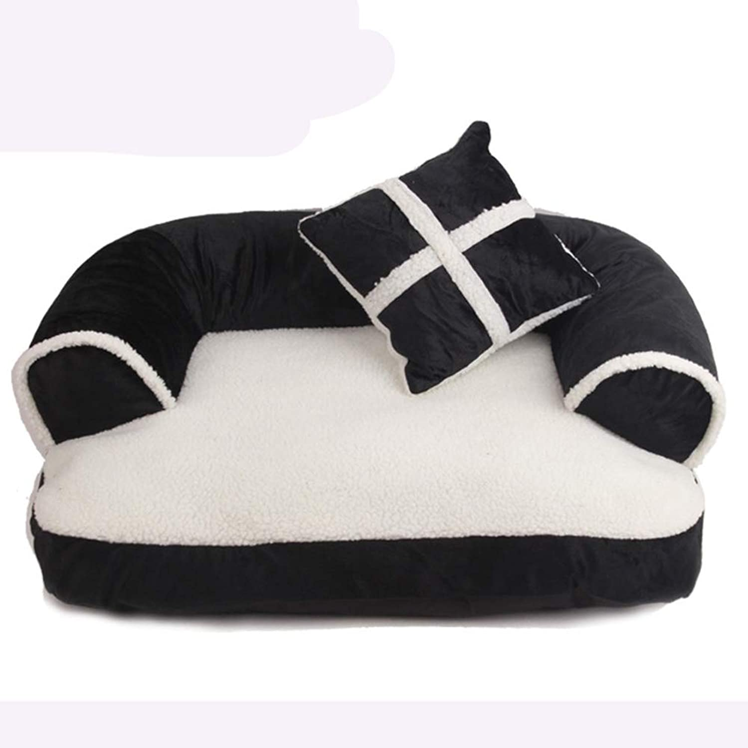 Pet Dog Bed, Plush SofaStyle Couch Pet Bed for Dogs & Cats, Black (Size   70x50cm)