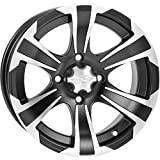 ITP SS312 Wheel (Front / 12X7) (Machined Black) Compatible with 14-17 Honda PIONEER4