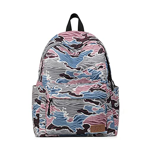 xiaozai Student Schoolbag Große Kapazität Outdoor-Druck Rucksack Sport Student Schoolbag 13 Zoll Blaues Pulver